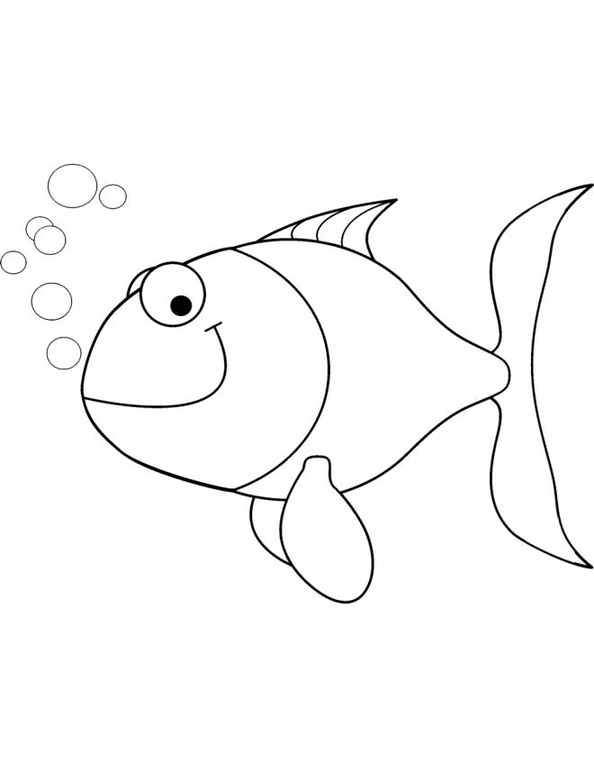 disegno di Pesciolino con Bollicine da colorare