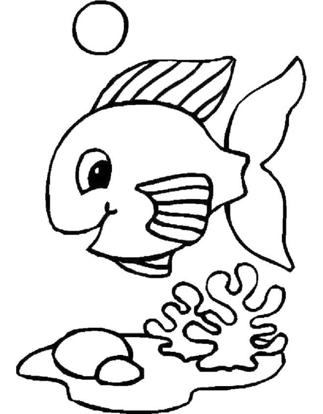 Popolare Disegno di Pesciolino da colorare per bambini  OZ77