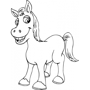 Disegno di piccolo cavallo da colorare