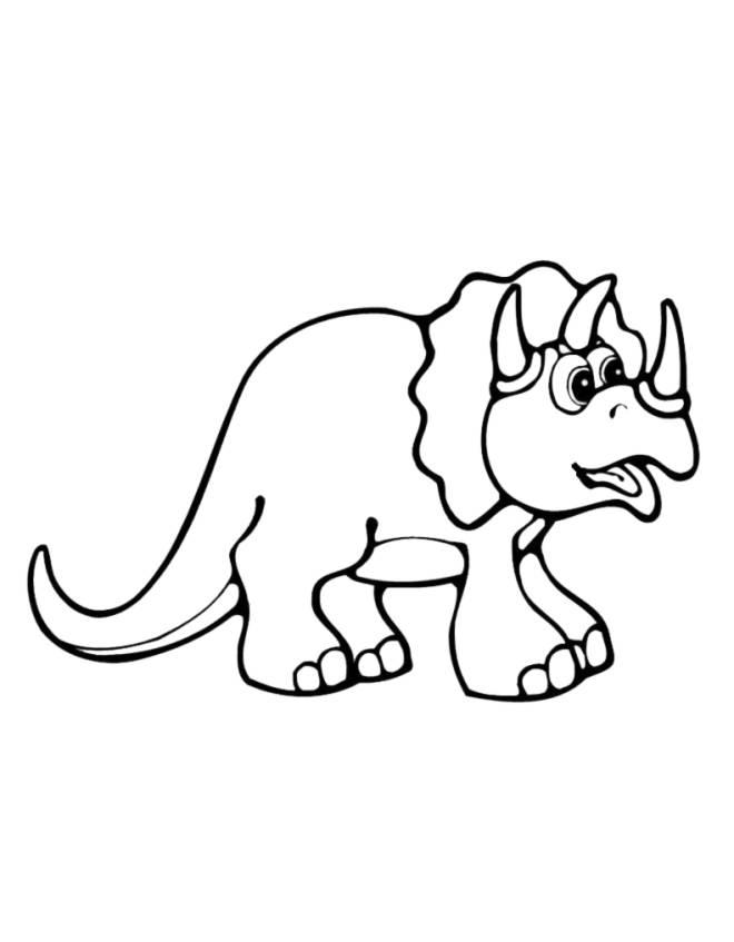 disegno di Piccolo Triceratopo da colorare
