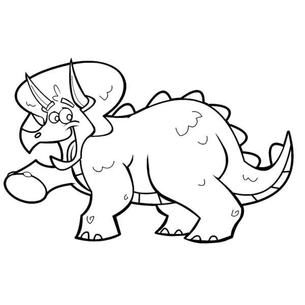 Disegno Di Dinosauro Triceratops Da Colorare Per Bambini