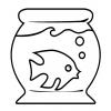 Disegno di Acquario con Pesciolino da colorare