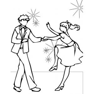 Disegno di ballando con le stelle da colorare per bambini for Stelle da colorare per bambini