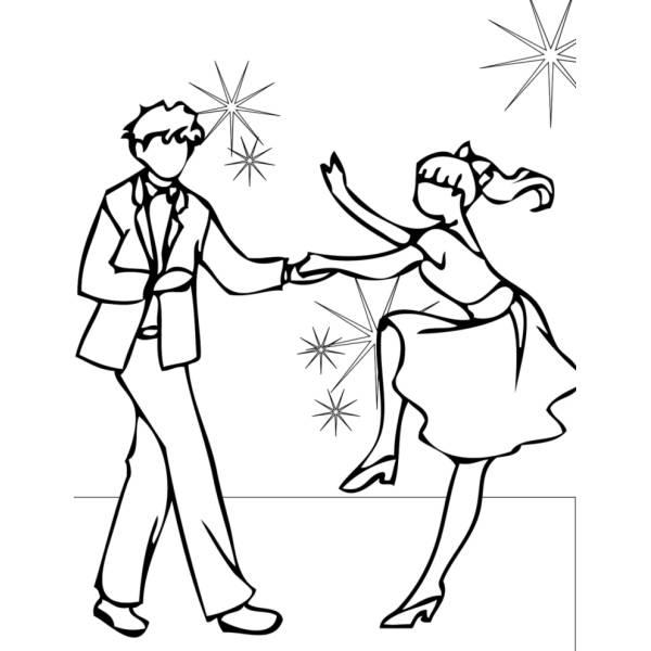 Disegno di Ballando con le Stelle da colorare