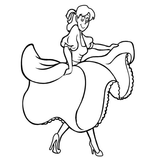 Disegno Di Ballerina Da Colorare Per Bambini