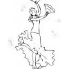 Disegno di Ballerina di Flamenco da colorare