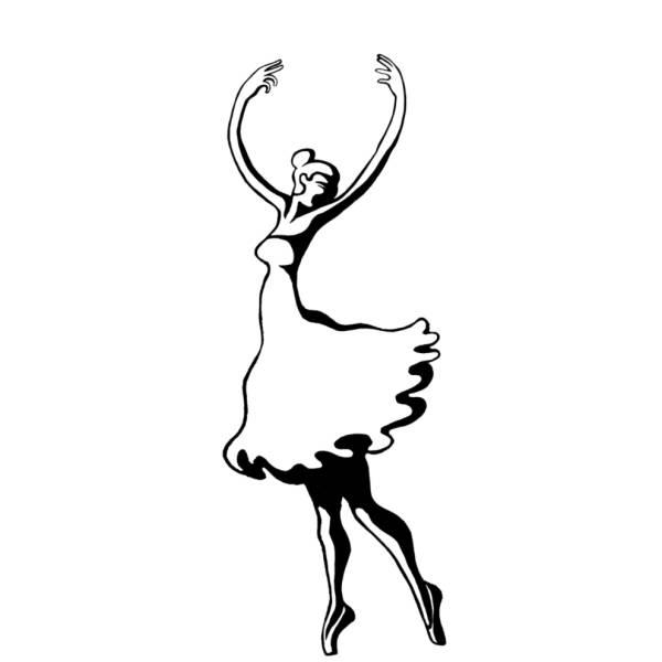 Disegno di Ballerina sulle Punte da colorare