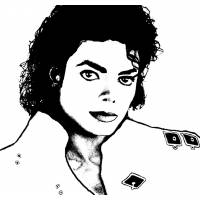 Disegno di Michael Jackson da colorare