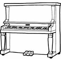 disegno di Pianoforte da colorare