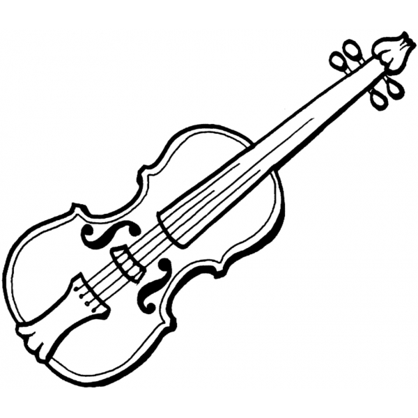 Disegno Di Violino A Colori Per Bambini Disegnidacolorareonlinecom