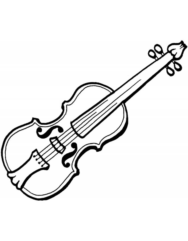 Stampa disegno di violino da colorare - Note musicali da colorare pagina da colorare ...