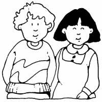 Disegno di Bambini da colorare