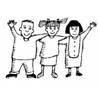 disegno di Bambini Abbracciati da colorare