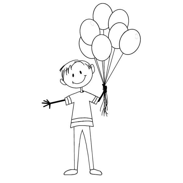 Disegno Di Il Ragazzo Coi Palloncini Da Colorare Per Bambini