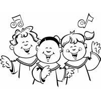 Disegno di Coro di Bambini da colorare