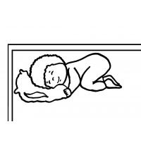 disegno di Bambino che Dorme da colorare