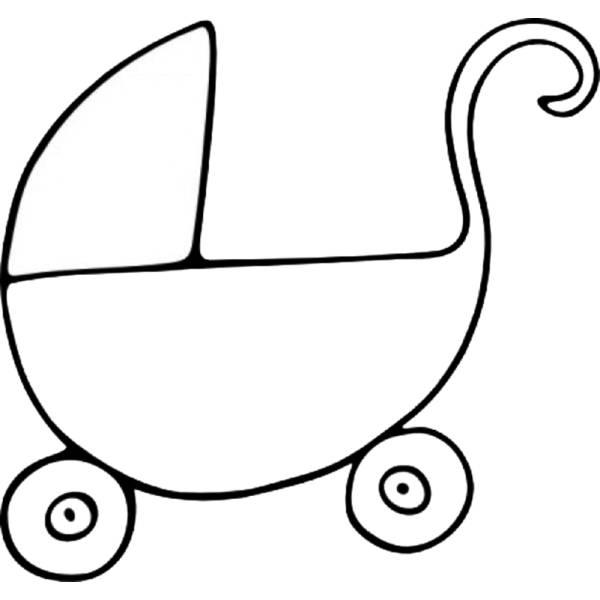 Disegno Di Carrozzina Da Colorare Per Bambini