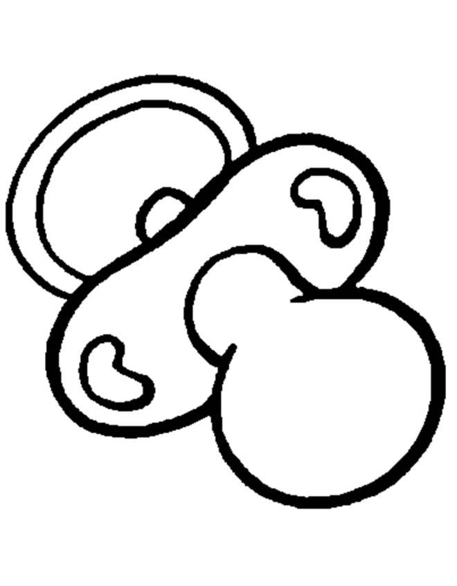Disegno Di Ciucciotto Da Colorare Per Bambini