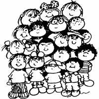 Disegno di Diritti dei Bambini da colorare