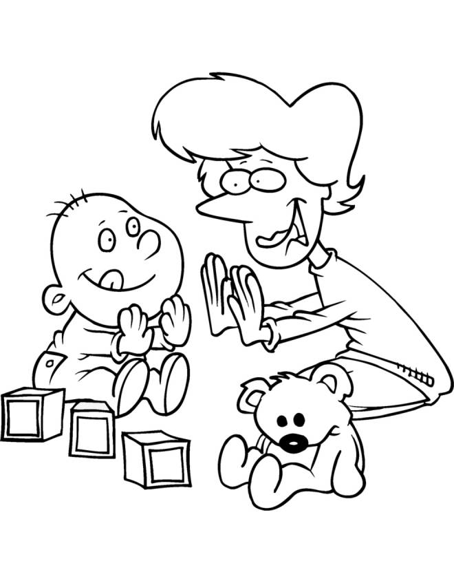 disegno di Giochi per Bimbi da colorare