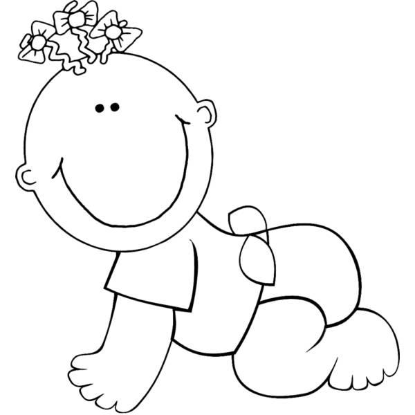Disegno Di Neonato Da Colorare Per Bambini Disegnidacolorareonline Com