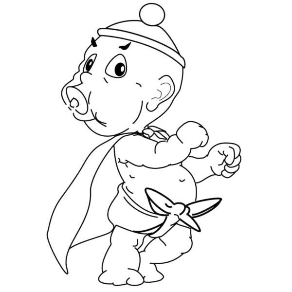 Disegno Di Neonato Supereroe Da Colorare Per Bambini