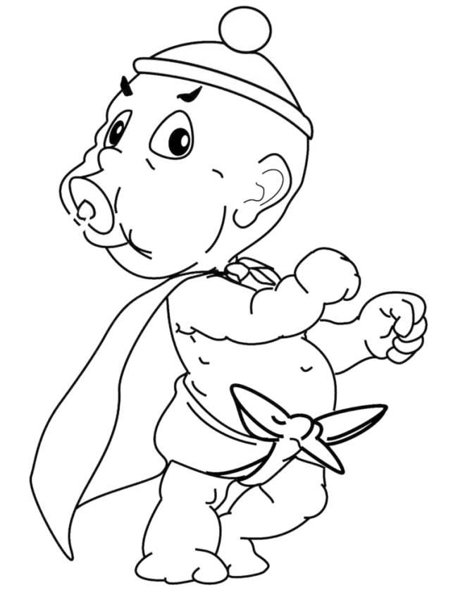 Disegno di neonato supereroe da colorare per bambini for Comodini per bambini online