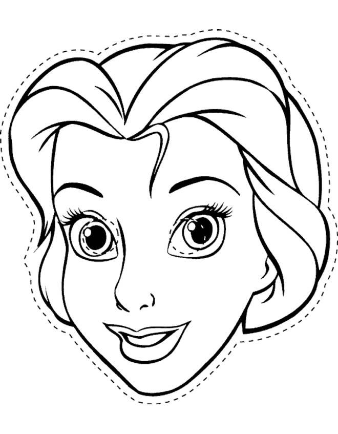 disegno di Belle Maschera da Ritagliare da colorare