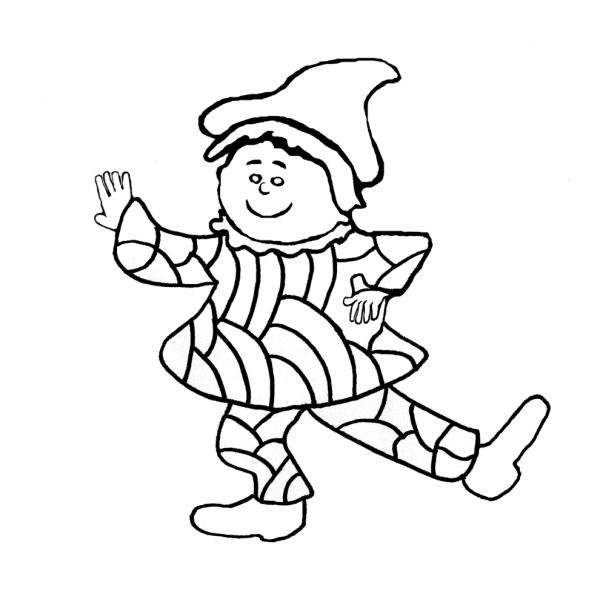 Disegno di giullare da colorare per bambini - Immagini di aquiloni per colorare ...