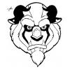 disegno di Maschera della Bestia da Ritagliare da colorare