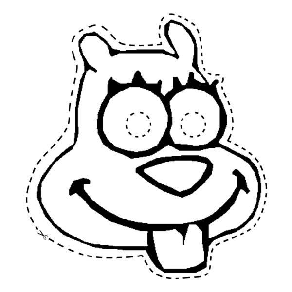 Disegno Di Maschera Di Cane Da Ritagliare Da Colorare Per Bambini