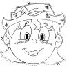Disegno di Maschera da Ritagliare da colorare