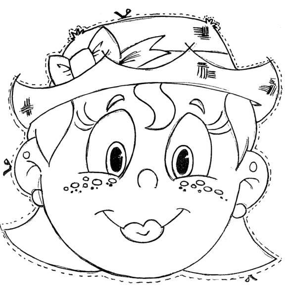 Disegno Di Maschera Da Ritagliare Da Colorare Per Bambini