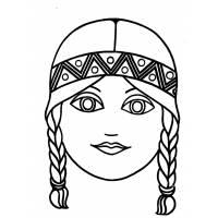 disegno di Maschera di Indiana da colorare