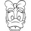 Disegno di Maschera di Paperina da Ritagliare da colorare