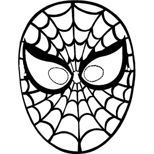 Disegno di maschera di spiderman da ritagliare da colorare for Disegni di zorro da colorare per bambini