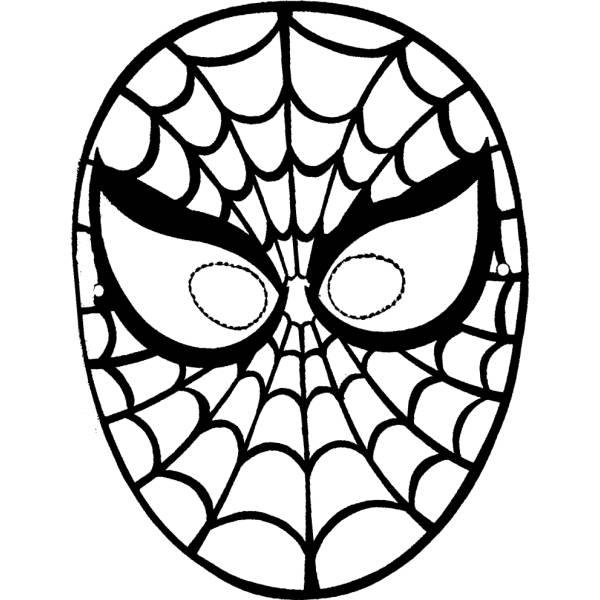 Disegno Di Maschera Di Spiderman Da Ritagliare Da Colorare Per