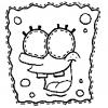 Disegno di Maschera di Spongebob da Ritagliare da colorare