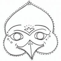 disegno di Maschera di Uccello da colorare