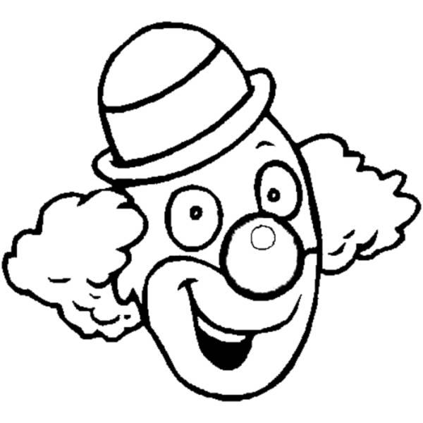 Disegno di clown da colorare per bambini for Pagliaccio da disegnare
