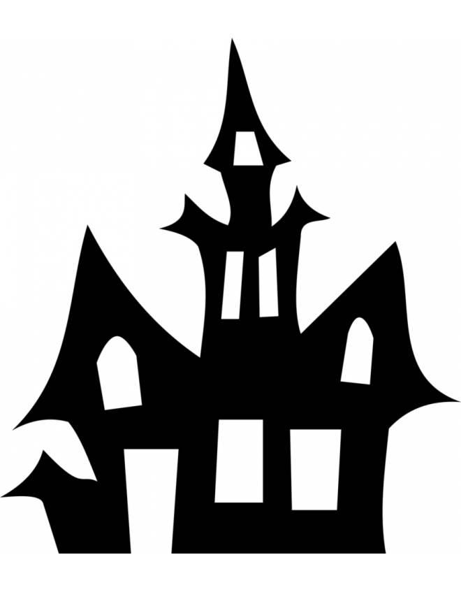 Disegno di la casa stregata da colorare per bambini - Colorare la casa ...