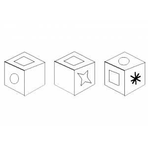 Disegno di cubi da colorare per bambini gratis for Disegno 3d online