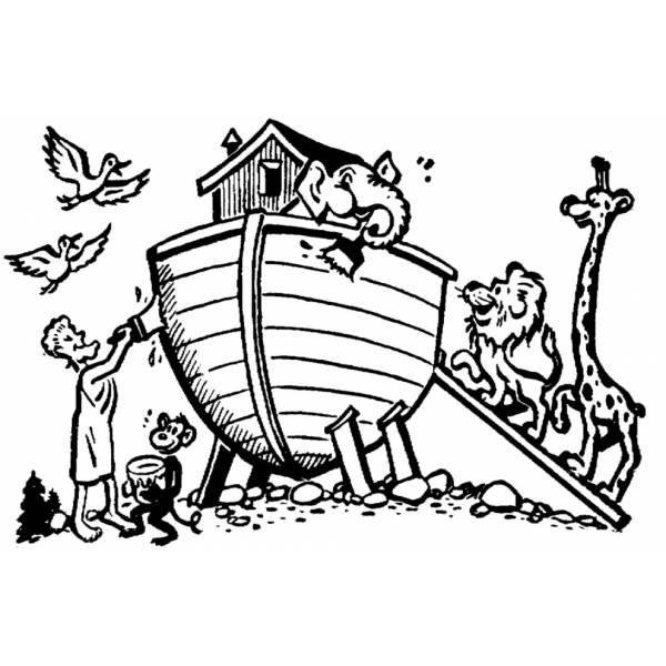 Disegno di Arca di Noè da colorare