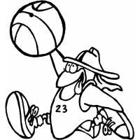 Disegno di Basket Cartone Animato da colorare