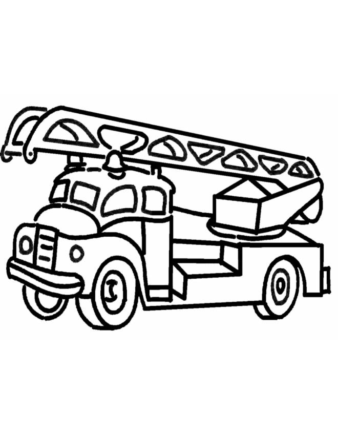 disegno di Camion dei Pompieri da colorare