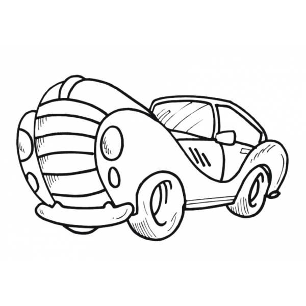 Disegno Di Automobile Da Colorare Per Bambini