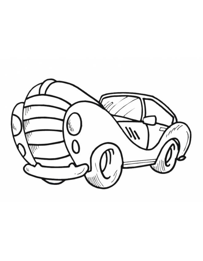 Disegno di automobile da colorare per bambini for Disegni da stampare e colorare cars