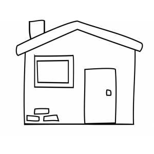 Disegno di la casetta da colorare per bambini gratis for Disegni camino casa