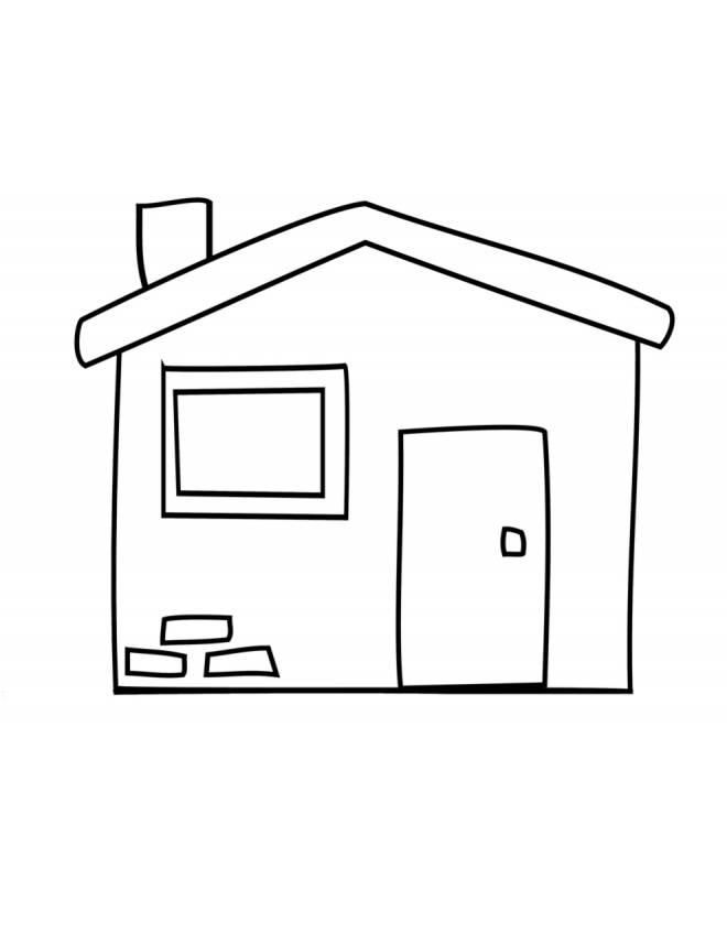 Stampa disegno di la casetta da colorare for Casa disegno