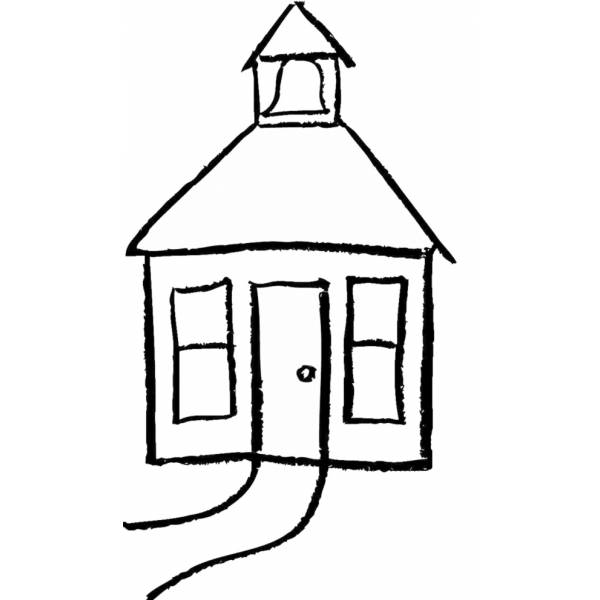 Disegno di casetta da colorare per bambini for Disegni di mattoni a casa